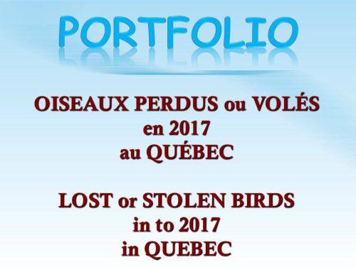 Avis de recherche 2017 Search Notices 2017