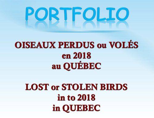 Avis de recherche 2018 Wanted Notices
